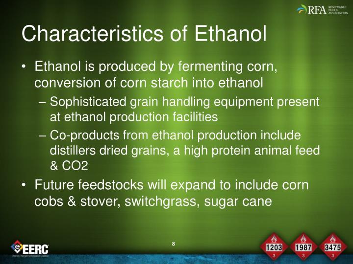 Characteristics of Ethanol