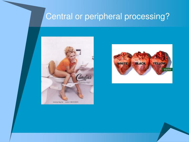 Central or peripheral processing?