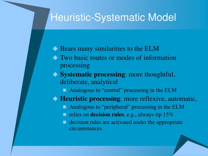 Heuristic-Systematic Model