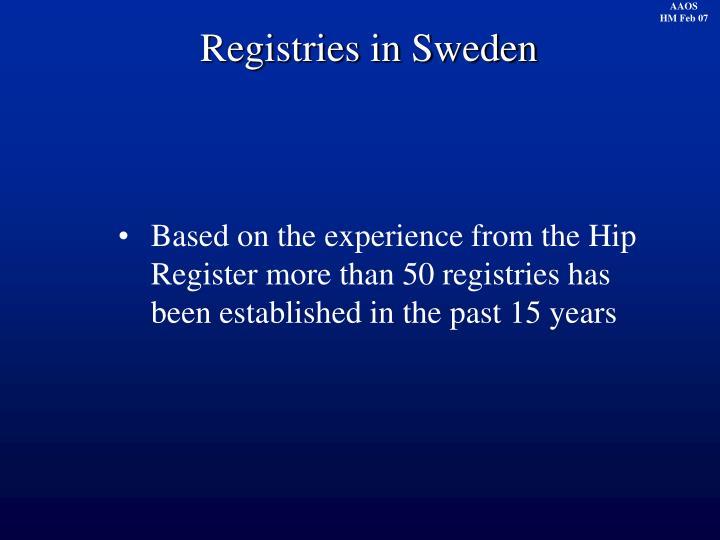 Registries in Sweden