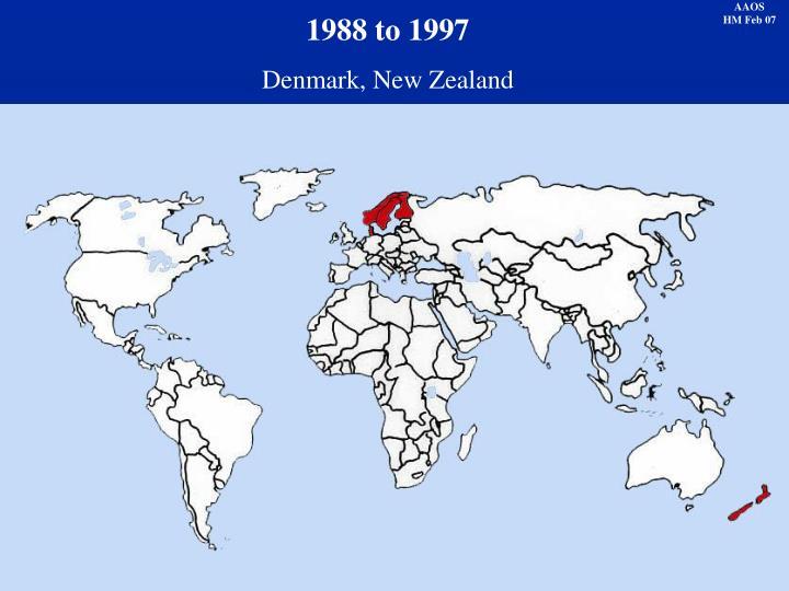 1988 to 1997
