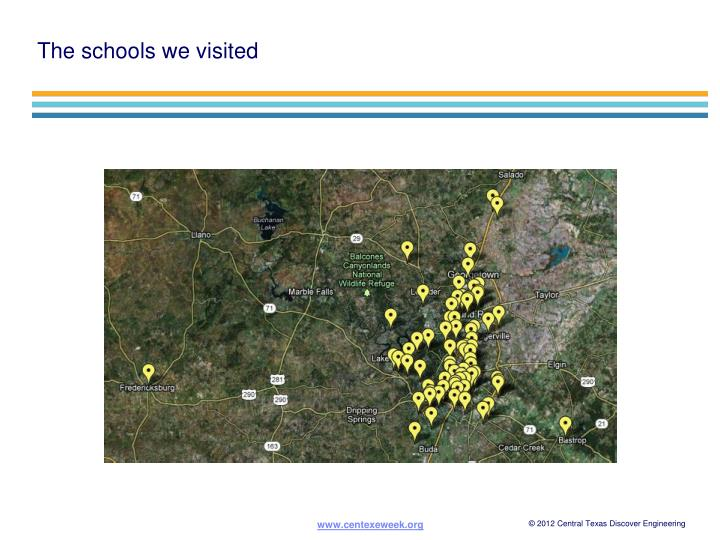 The schools we visited