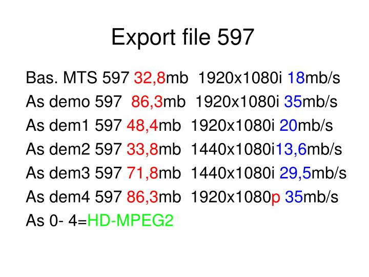 Export file 597