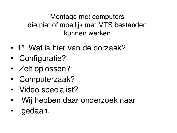 Montage met computers