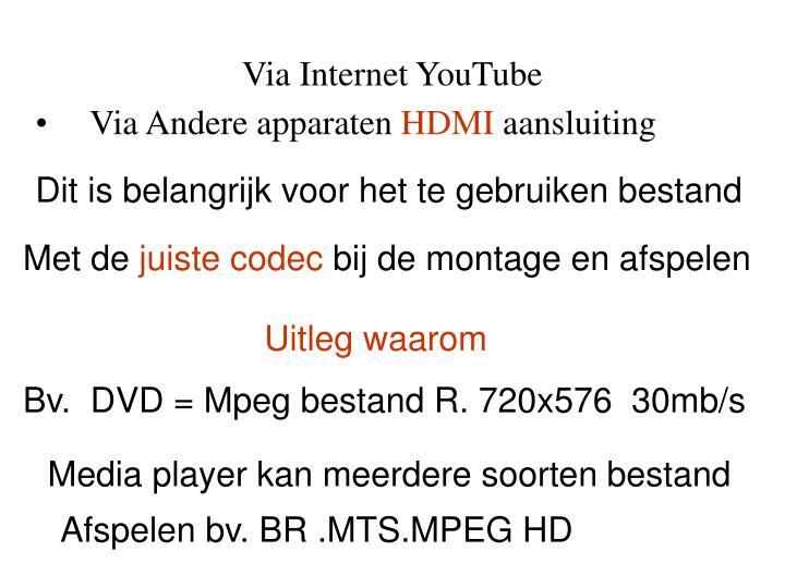 Via Internet YouTube