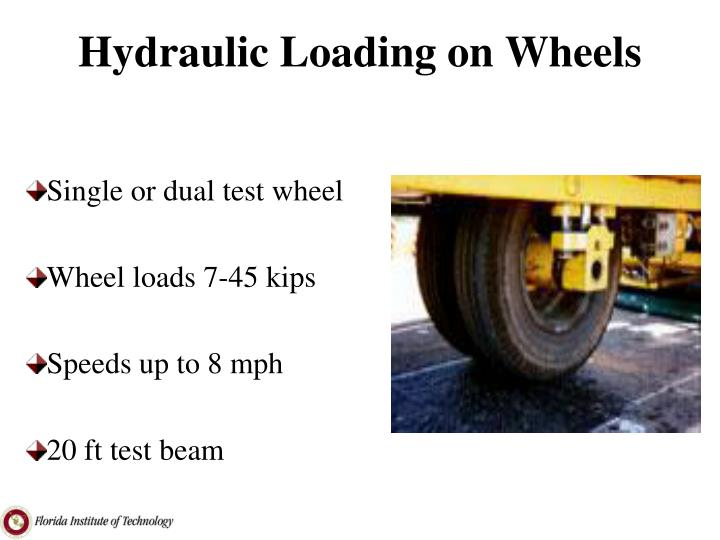 Hydraulic Loading on Wheels