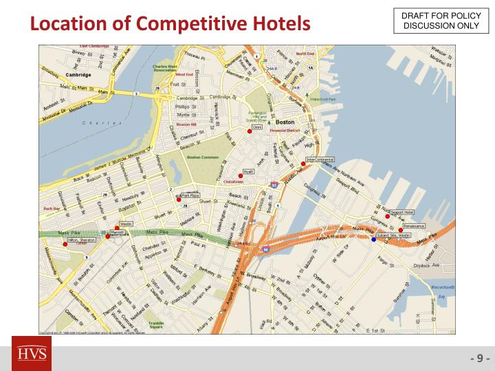 Location of Competitive Hotels