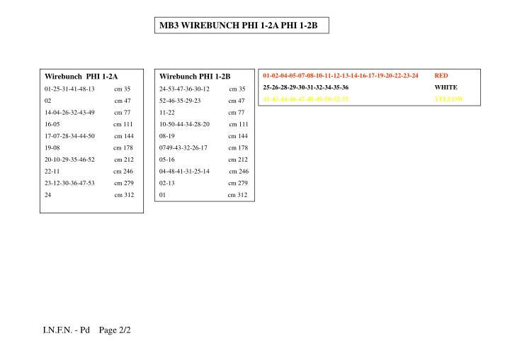 MB3 WIREBUNCH PHI 1-2A PHI 1-2B