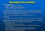 managing the problem