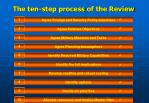 the ten step process of the review