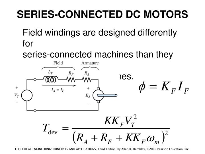 SERIES-CONNECTED DC MOTORS