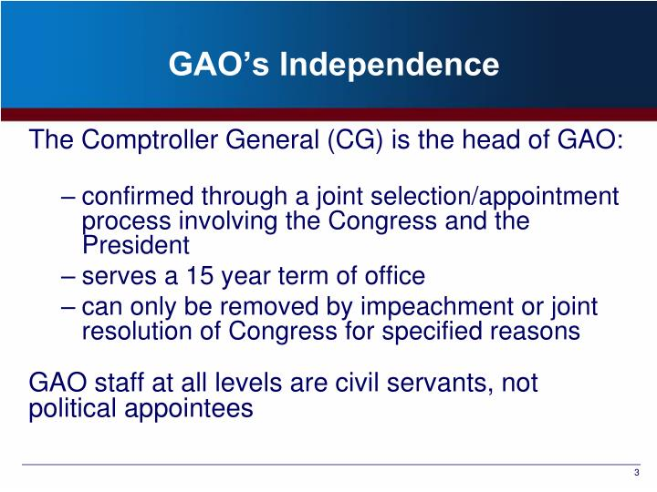 GAO's Independence