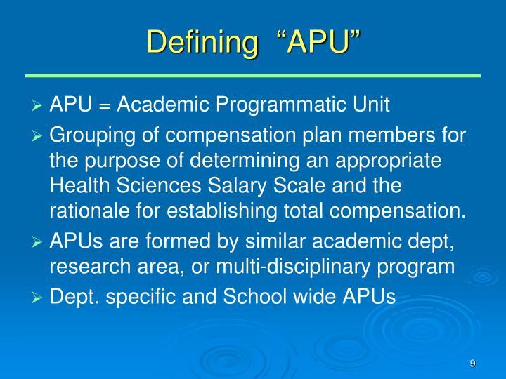 """Defining  """"APU"""""""
