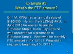 example 3 what s the fte amount