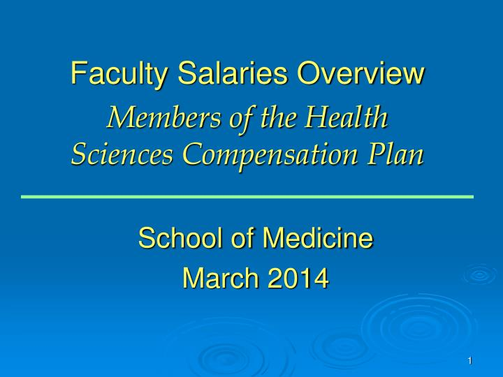 Faculty Salaries Overview