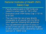national institutes of health nih salary cap