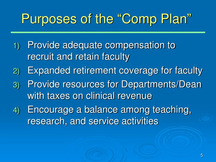 """Purposes of the """"Comp Plan"""""""