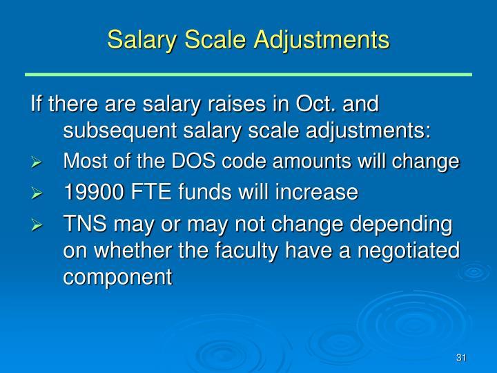 Salary Scale Adjustments