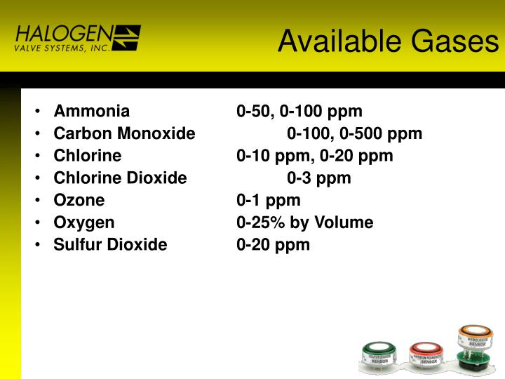 Available Gases