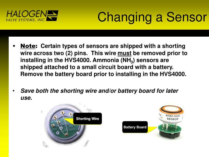 Changing a Sensor