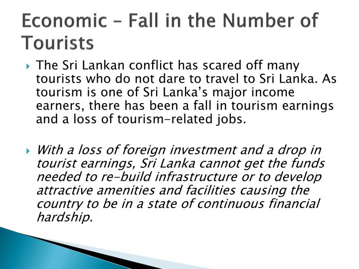 Economic – Fall in the Number of Tourists