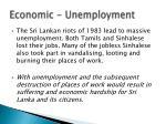 economic unemployment