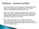 political armed conflict
