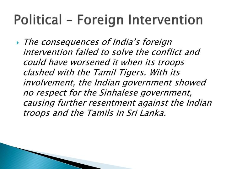 Political – Foreign Intervention