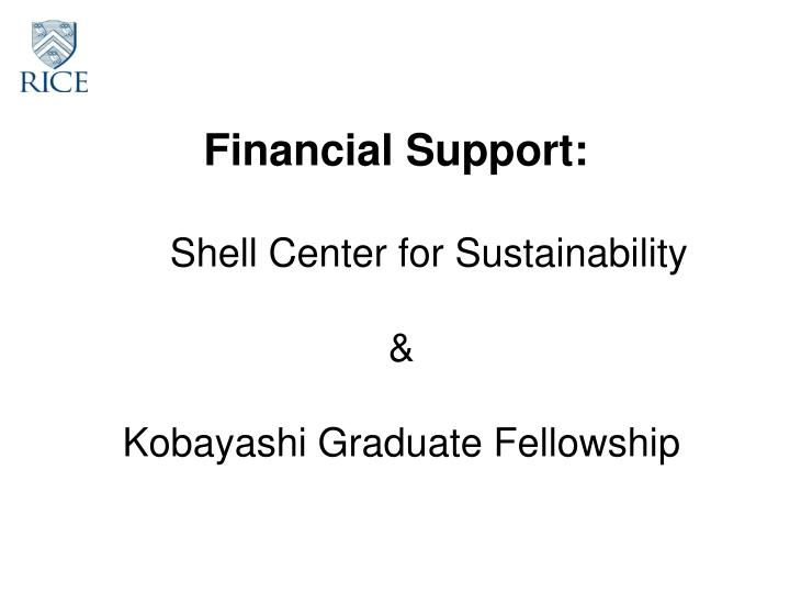Financial Support: