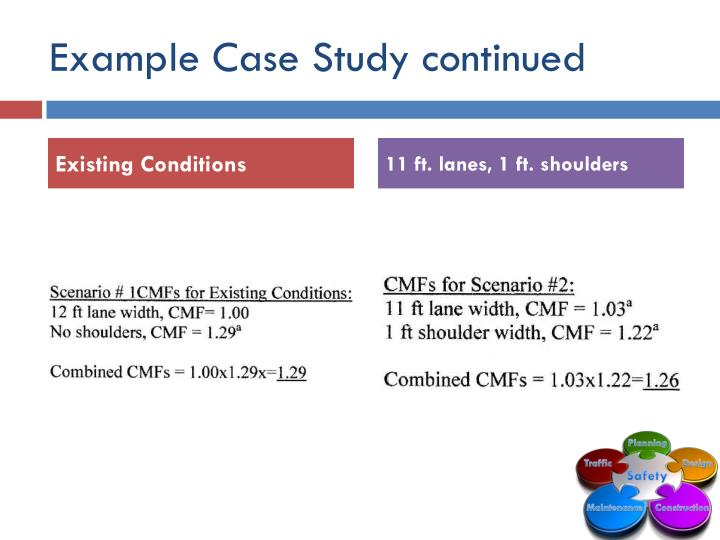 Example Case Study continued