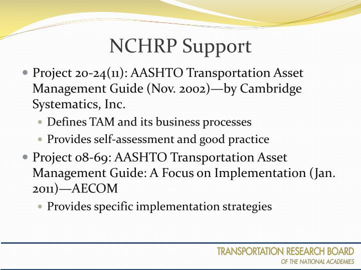 NCHRP Support