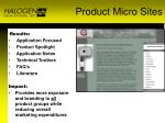 product micro sites