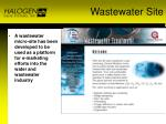 wastewater site