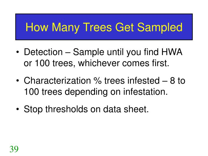 How Many Trees Get Sampled