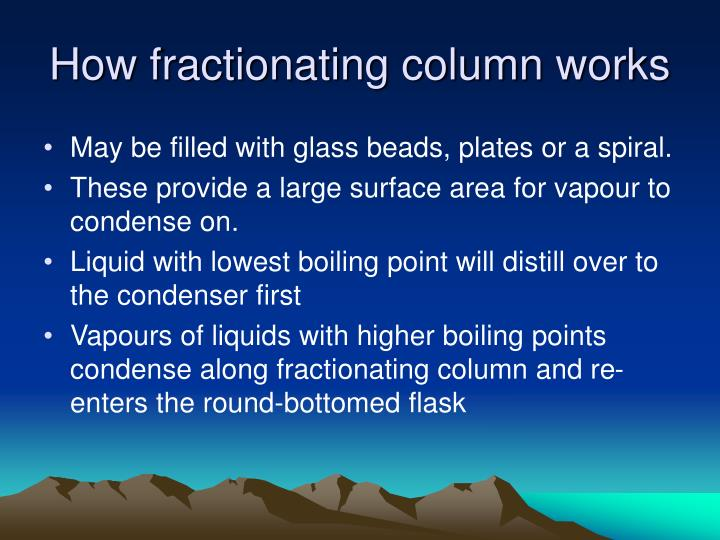 How fractionating column works