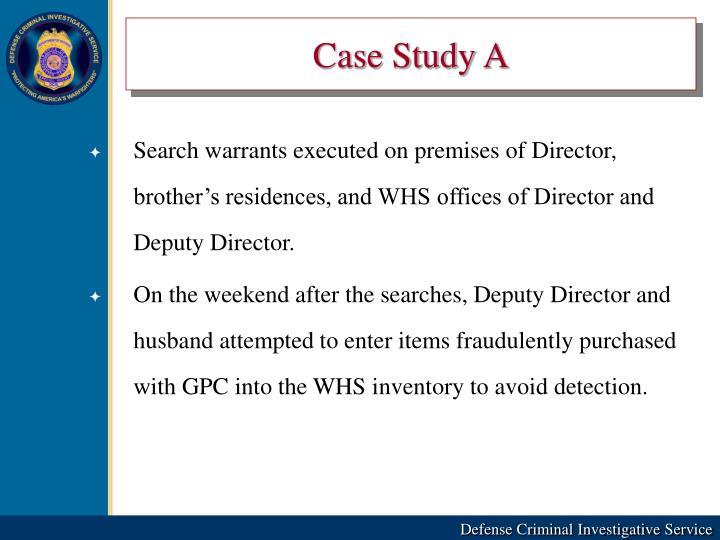 Case Study A
