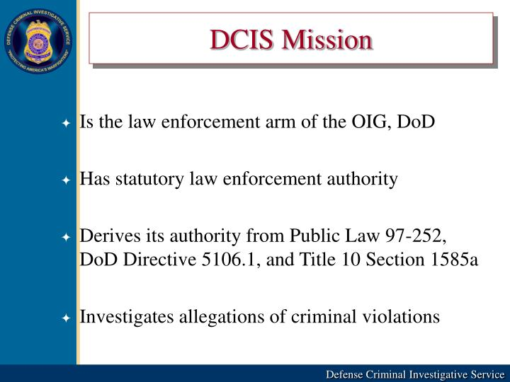 DCIS Mission