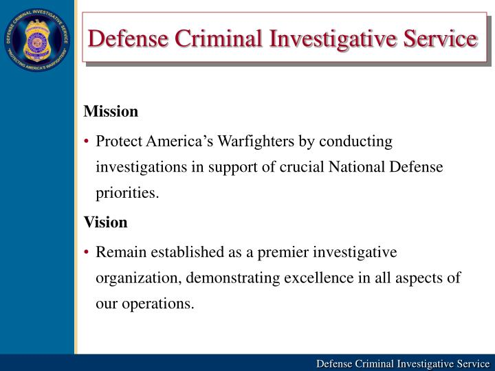 Defense Criminal Investigative Service