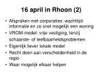 16 april in rhoon 2