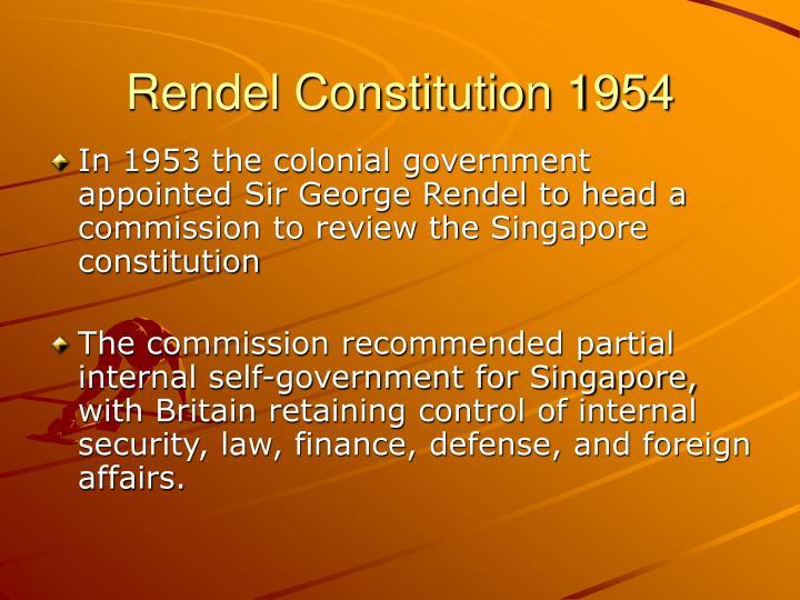 Rendel Constitution 1954