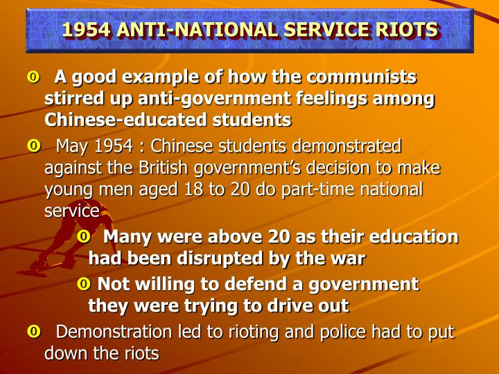 1954 ANTI-NATIONAL SERVICE RIOTS