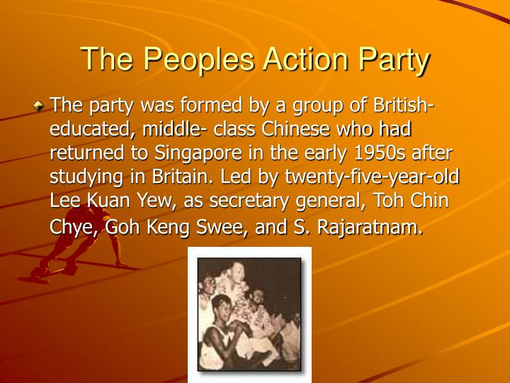 The Peoples Action Party
