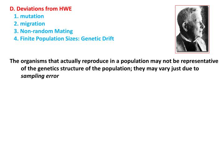 D. Deviations from HWE