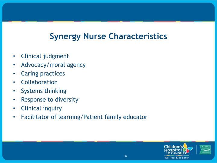Synergy Nurse Characteristics