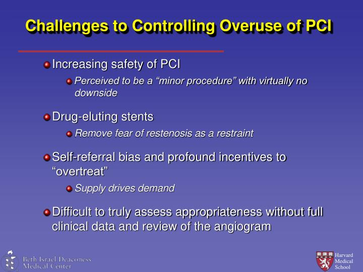 Challenges to Controlling Overuse of PCI