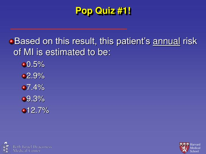 Pop Quiz #1!