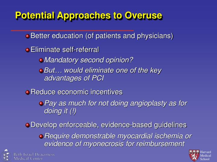 Potential Approaches to Overuse