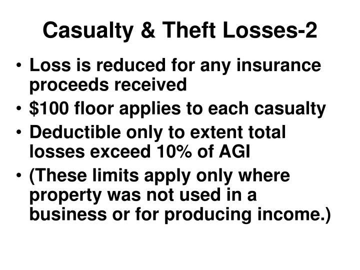 Casualty & Theft Losses-2