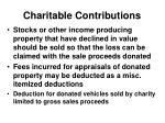 charitable contributions5