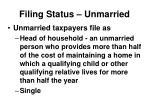 filing status unmarried